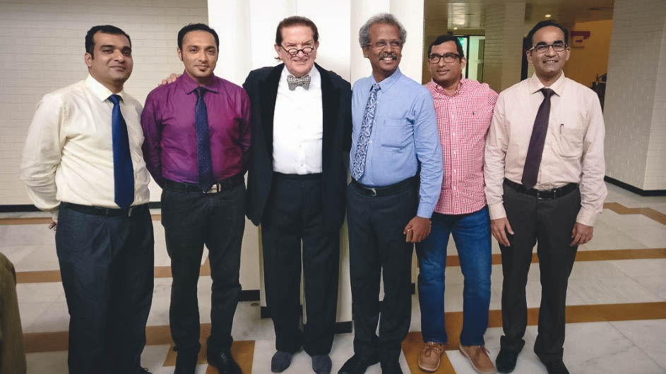 From left to right re. Dr. P.C. Mathew Kerala, Dr. Dr. Vikram Shetty, Mangalore,  Prof, Prof. Dr. R. Manikandhan, Chennai, Dr. Gosla Reddy, Hyderabad and Dr. Parit Ladani from Mumbai.